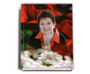 Elegance Perfect Bind Funeral Guest Book 8x10 with photo