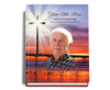 Glorify Perfect Bind Memorial Funeral Guest Book 8x10 with photo