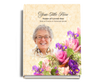 Golden Perfect Bind Memorial Funeral Guest Book 8x10 with photo