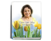 Inspire Perfect Bind Funeral Guest Book 8x10 with photo