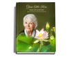 Lotus Perfect Bind Funeral Guest Book 8x10 with photo