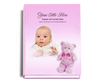 NurseryGirl Perfect Bind Funeral Guest Book 8x10 with photo