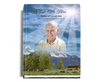 Outdoor Perfect Bind Funeral Guest Book 8x10 with photo