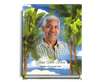 Paradise Perfect Bind Funeral Guest Book 8x10 with photo