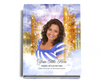 Pathway Perfect Bind Funeral Guest Book 8x10 with photo