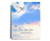 Peace Perfect Bind Funeral Guest Book 8x10