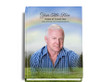 Promise Perfect Bind Funeral Guest Book 8x10 with photo