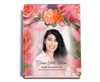 Rosy Perfect Bind Memorial Funeral Guest Book 8x10 with photo