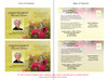 Bouquet Funeral Announcement Postcard Template inside view