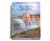 Seashore Perfect Bind Memorial Funeral Guest Book 8x10 with photo