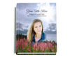 Seasons Perfect Bind Memorial Funeral Guest Book 8x10 with photo