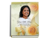 Rejoice Perfect Bind Memorial Funeral Guest Book 8x10 with photo