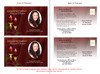Candlelight Funeral Announcement Template inside view