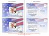 Patriot Funeral Announcement Postcard Template inside view