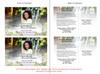 Serene Funeral Announcement Postcard inside view