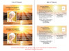 Sunrise Funeral Announcement Template inside view