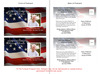 US Flag Funeral Announcement Template inside view
