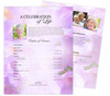 Lavender Funeral Flyer Sheets Template
