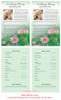 Ambrosia Half Sheet Funeral Flyer Template inside view