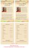 Ashanti Half Sheet Funeral Flyer Template inside view