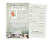 Bridge Funeral Flyer Half Sheets Template