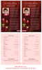 Candlelight Funeral Flyer Half Sheets Template inside view