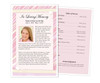 Carly Funeral Flyer Half Sheets Template