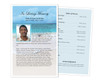 Caribbean Funeral Flyer Half Sheets Template