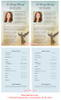 Celestial Funeral Flyer Half Sheets Template inside view