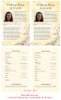 Cherub Funeral Flyer Half Sheets Template inside view