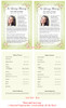 Christie Funeral Flyer Half Sheets Template inside view