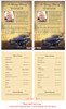 Classic Car Funeral Flyer Half Sheets Template inside view