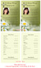 Daisy Funeral Flyer Half Sheets Template inside view