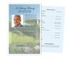 Golfer Funeral Flyer Half Sheets Template