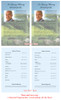 Golfer Funeral Flyer Half Sheets Template inside view