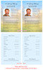 Horizon Funeral Flyer Half Sheets Template inside view