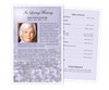 Lilac Funeral Flyer Half Sheets Template