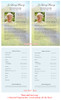 Tranquil Funeral Flyer Half Sheets Template inside view
