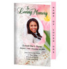 Pearls Letter 4-Sided Graduated Funeral Program Template