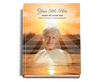 Sunrise Perfect Bind Funeral Guest Book Sign-In 8x10 with photo