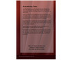 Candlelight 8-Side Graduated Funeral Program Template back cover