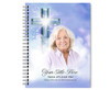 Adoration Spiral Wire Bind Memorial Guest Book Sign In with photo