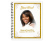 Affinity Spiral Wire Bind Memorial Guest Book Sign In with photo