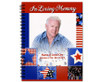Americana Spiral Wire Bind Memorial Guest Book with photo