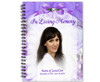 Amethyst Spiral Wire Bind Memorial Guest Book with photo