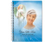 Angelica Spiral Wire Bind Memorial Guest Book with photo