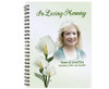 Calle Spiral Wire Bind Memorial Guest Book with photo