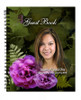 Essence Spiral Wire Bind Memorial Guest Book Registry with photo