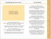 Golden 8-Sided Graduated Funeral Program Template inside view 1