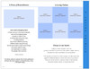 Heaven 8-Sided Graduated Funeral Program Template view inside 3